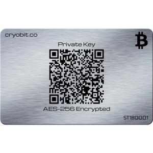 Cryo-Karte 2014 - 2 Side Zurück - Bitcoin