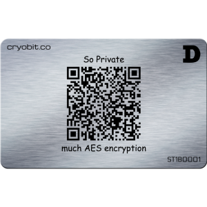 Cryo-Karte 2014 - 2 Side Zurück - Dogecoin