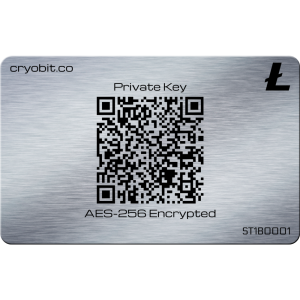 Cryo Card 2014 - 2 Side Back - Litecoin