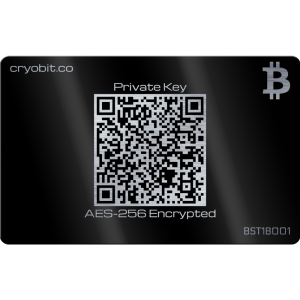 Black Cryo Card - 2 Side Back - Bitcoin