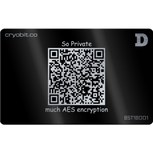 Black Cryo Card - 2 Side Back - Dogecoin